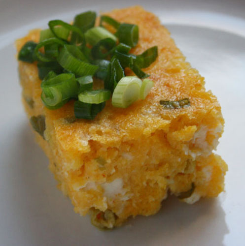 Abanian Cornbread with Feta and Green Onion