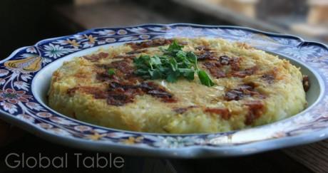 Andorran Trinxat (potatoes, cabbage, and bacon)