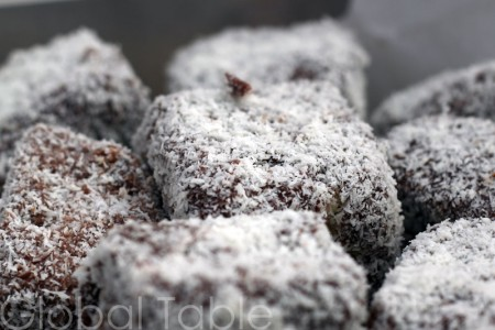 Lamingtons are cake covered in chocolate and coconut