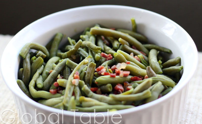 Green Beans with Speck can be made ahead and heated in the oven right before serving.