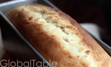 Coconut Bimini Bread, ready to slice