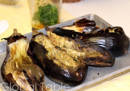 Soft roasted eggplant