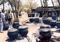 Falkirks (pots) used for special occasion stews. Photo by