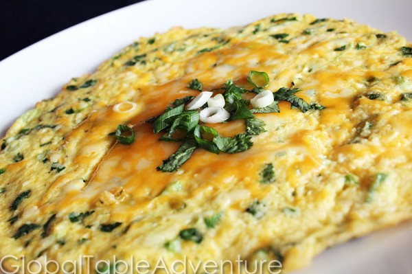 Ecuadorian open faced cornmeal omelet with cheese global table im forumfinder Gallery