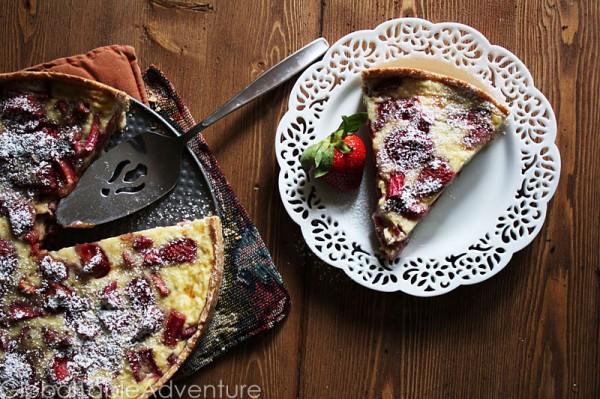 Strawberry Rhubarb & Cream Tart | Global Table Adventure