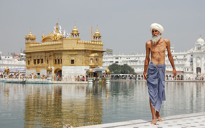 After a ritual bath in Amritsar, India. Photo by Paul Rudd