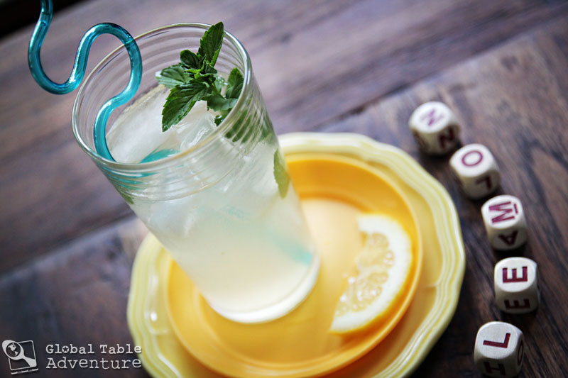 Lemon-Limeade with fresh mint | Israeli Juice | Global Table Adventure