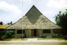 Inspiration for our Global Gingerbread Contest? The Former Kiribati House of Assembly. Photo by Roisterer
