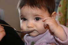 Ava's first food