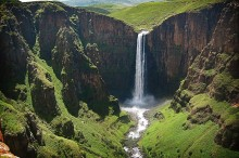 Maletsunyane Falls in Lesotho. Photo by BagelBelt.