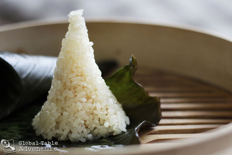 Coconut Sticky Rice in Banana Leaves | Lemang | Global Table Adventure