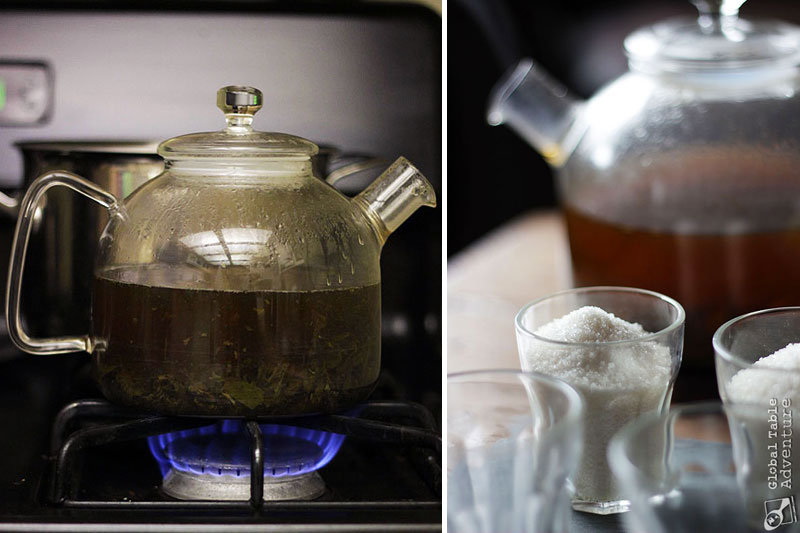 Traditional North African Green Mint Tea | Global Table Adventure