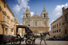 Malta, Mdina, St. Paul's Cathedral. Photo by Berthold Werner