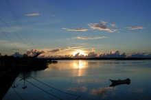 Sunset at Colonia, Yap (taken from Manta Ray Hotel). Photo by Eric Guinther
