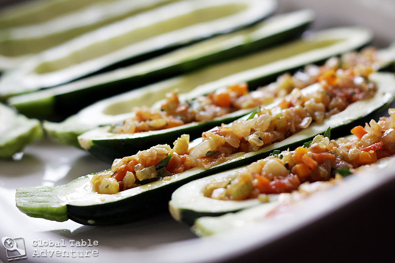 Moldovan Veggie & Feta Stuffed Zucchini | Global Table Adventure