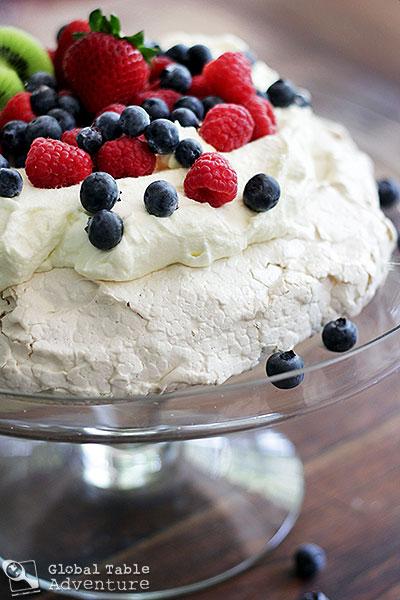 pavlova with summer berries kiwifruit recipe