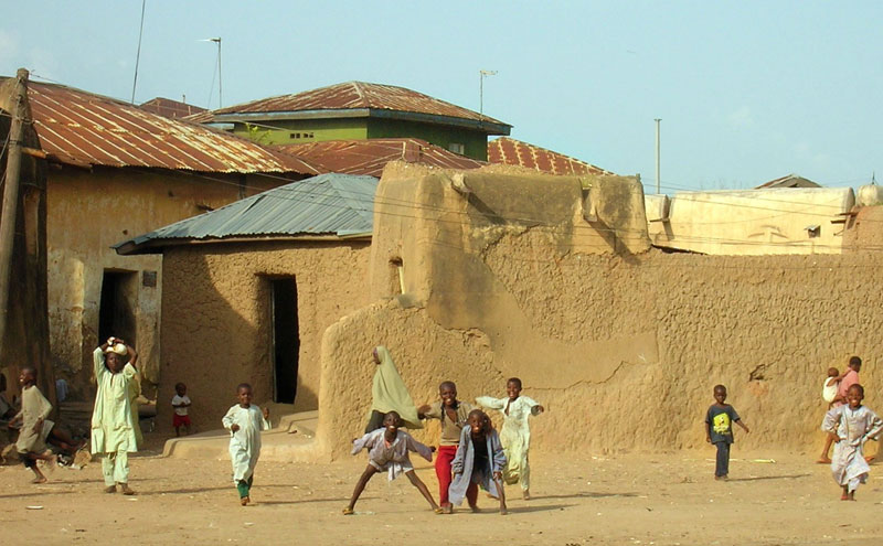 Kids playing in the streets of Zaria, Nigeria. Photo by shirazc.