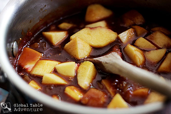Ginger Peach Barbecue Sauce | Global Table Adventure