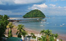 View of Isla Taboga, with Panama City in the background. Photo by Osopolar.