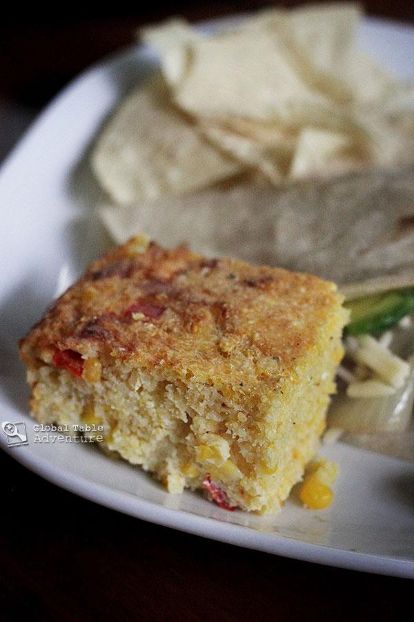Paraguayan Cheesy Cornbread | Sopa Paraguaya | Global Table Adventure