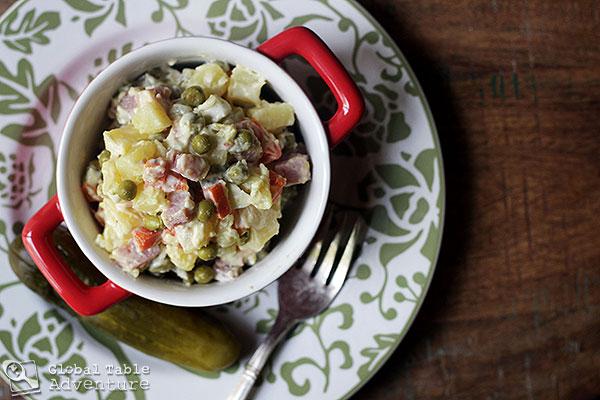 Russian Potato Salad | Olivier Salad | Global Table Adventure