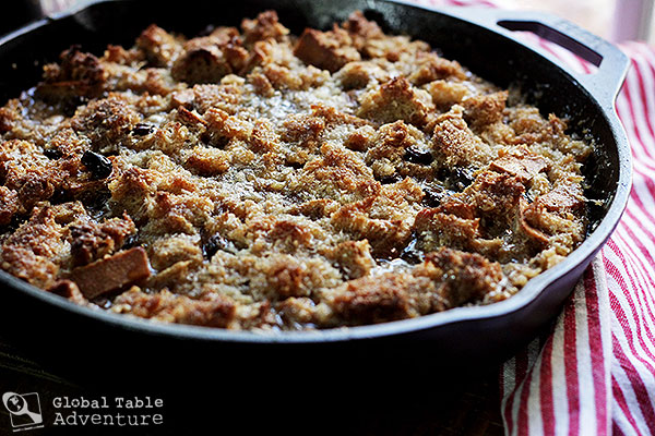 Rum Glazed Coconut Bread Pudding | Global Table Adventure