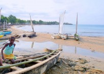 Fishing boats in Sao Tome &amp; Principe. Photo by Bdickerson.