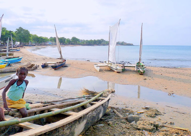 Fishing boats in Sao Tome & Principe. Photo by Bdickerson.
