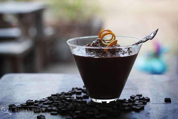 ... : Chocolate & Coconut Rice Pudding with Sweet Orange Peel | Koko Rice