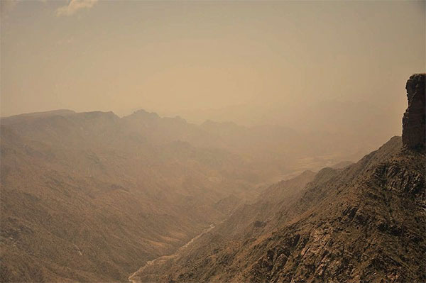 Taken from Habala Valley in Abha, the view shows the depth of Sarawat Mountain Range. Photo by Wajahatmr.