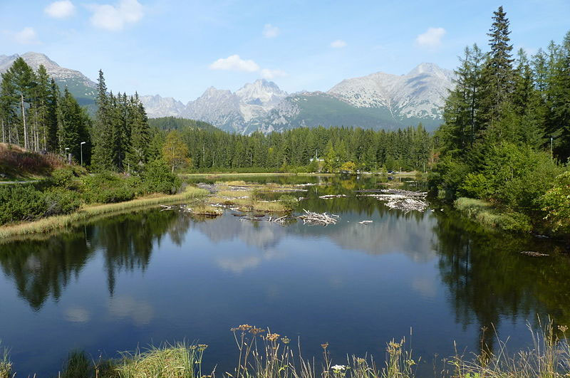 Nové Štrbské lake. The Hight Tatra Mountains, Slovakia. Photo by Podzemnik.