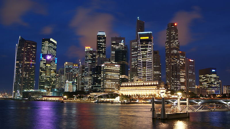 Singapore Skyline. Photo by Merlion44