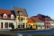 Vrbové, city center. Photo by Stanislav Doronenko.