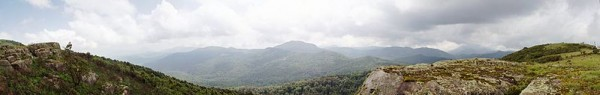 Panoramic from the top of Mount Kinyeti in South Sudan, looking further into the country. Photo by AIMikhin.