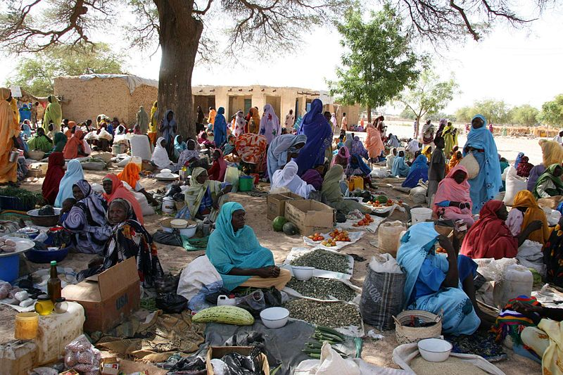 Market in Darfur courtesy of COSV.