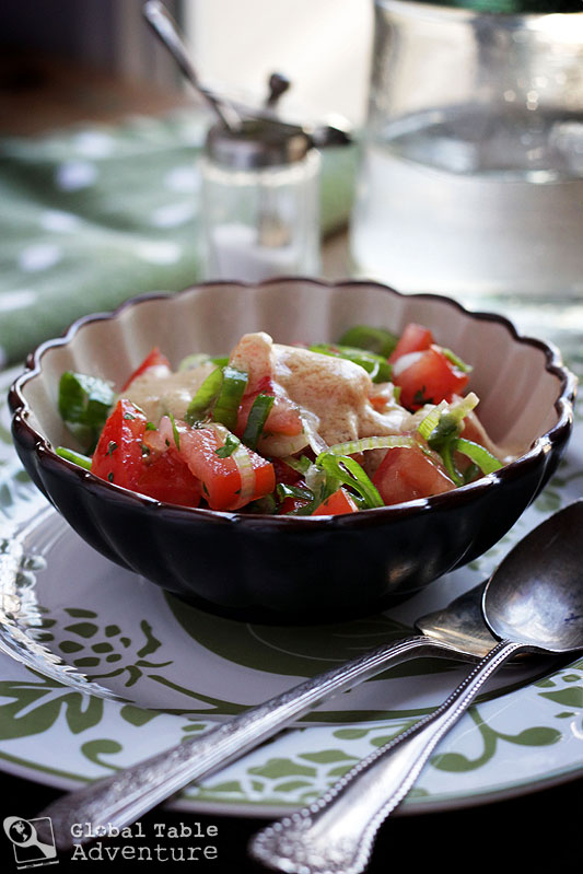 South Sudanese Tomato Salad | Global Table Adventure