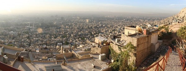Panorama of Damascus. Photo by Wurzelgnohm.