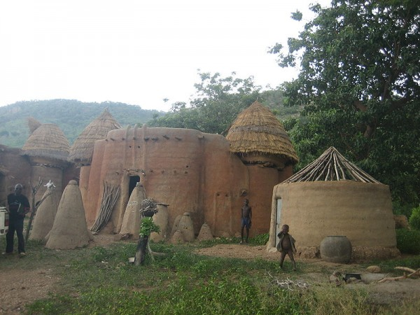 Local house in the Taberma Valley in Togo. The whole area is deignated a UNESCO Heritage Site. Photo by Erik Kristensen.