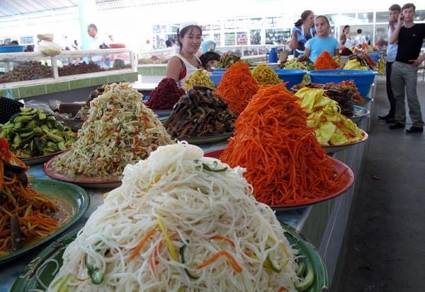 Bazar in Turkmenbashi. Photo by Peretz Partensky.