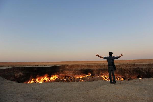 The Darvasa gas crater in Turkmenistan. Photo by Tormod Sandtorv.