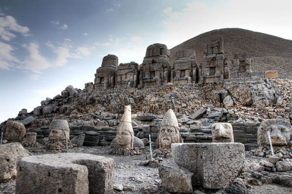 Mount Nemrut - East Terrace Nemrut Tümülüsü Gods of Commagene. Photo by  Klearchos Kapoutsis.