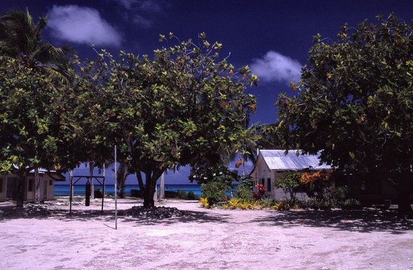 School on Funafuti Atoll, Tuvalu. Photo by Mrlins.