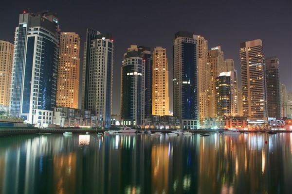 Dubai Marina by night by David Pin