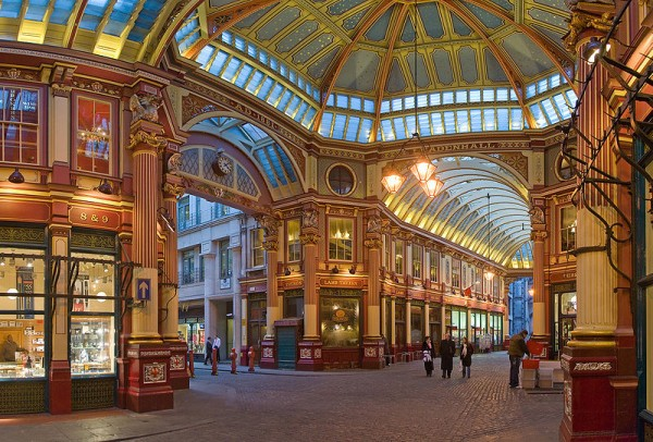 Leadenhall Market In London. Photo by DAVID ILIFF. License: CC-BY-SA 3.0