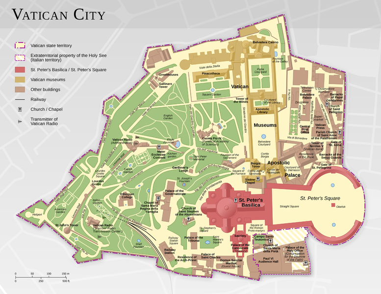 Map of the Vatican City  designed by Francesco PIRANEO G.