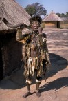 Witch doctor of the Shona people close to Great Zimbabwe, Zimbabwe. Photo by Hans Hillewaert.