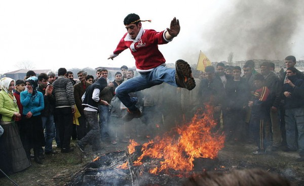 Newroz celebration in Istanbul. Photo by Bertil Videt.