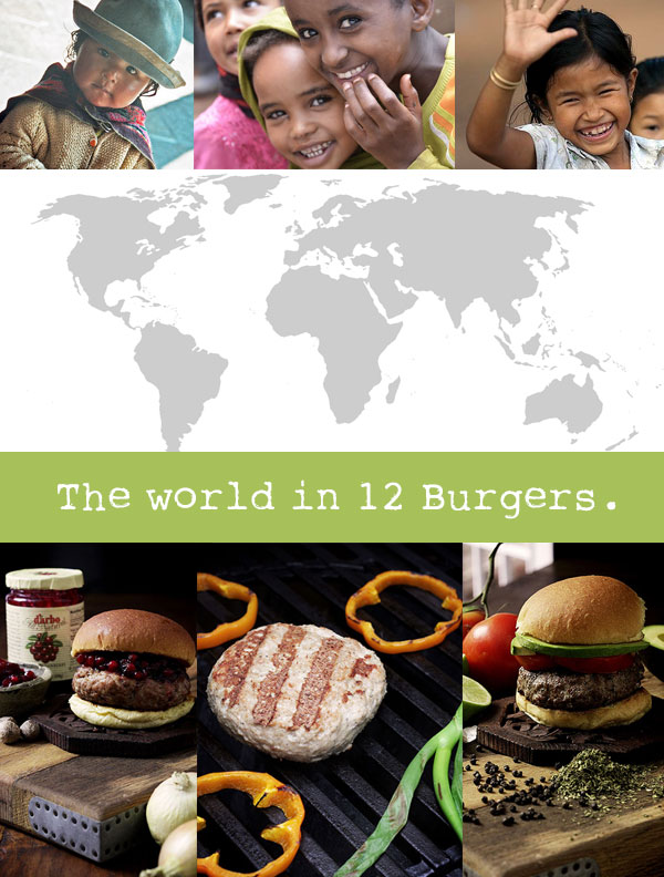 The world in 12 burgers.