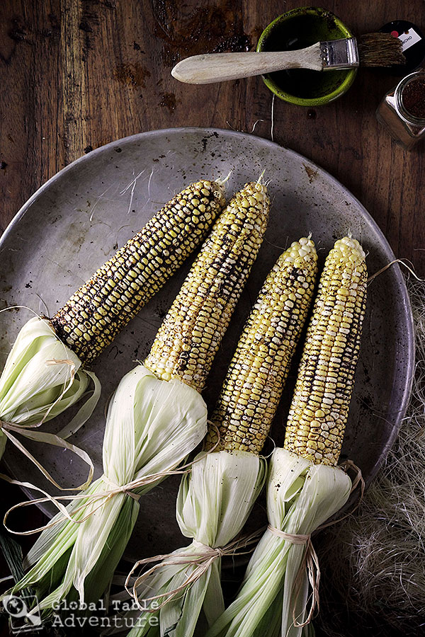 Spiced Elote | Mexican corn on the cob
