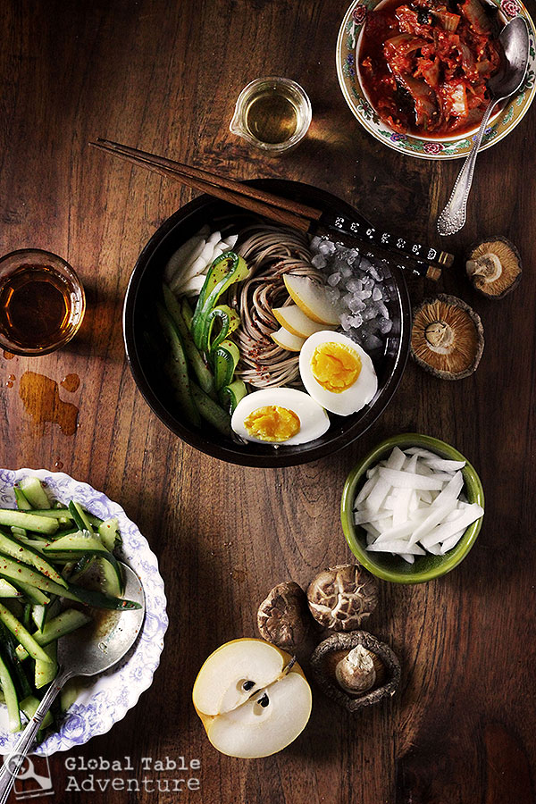 Iced Korean Buckwheat Noodles (Mul-naengmyeon) | 7 cold soups from around the world